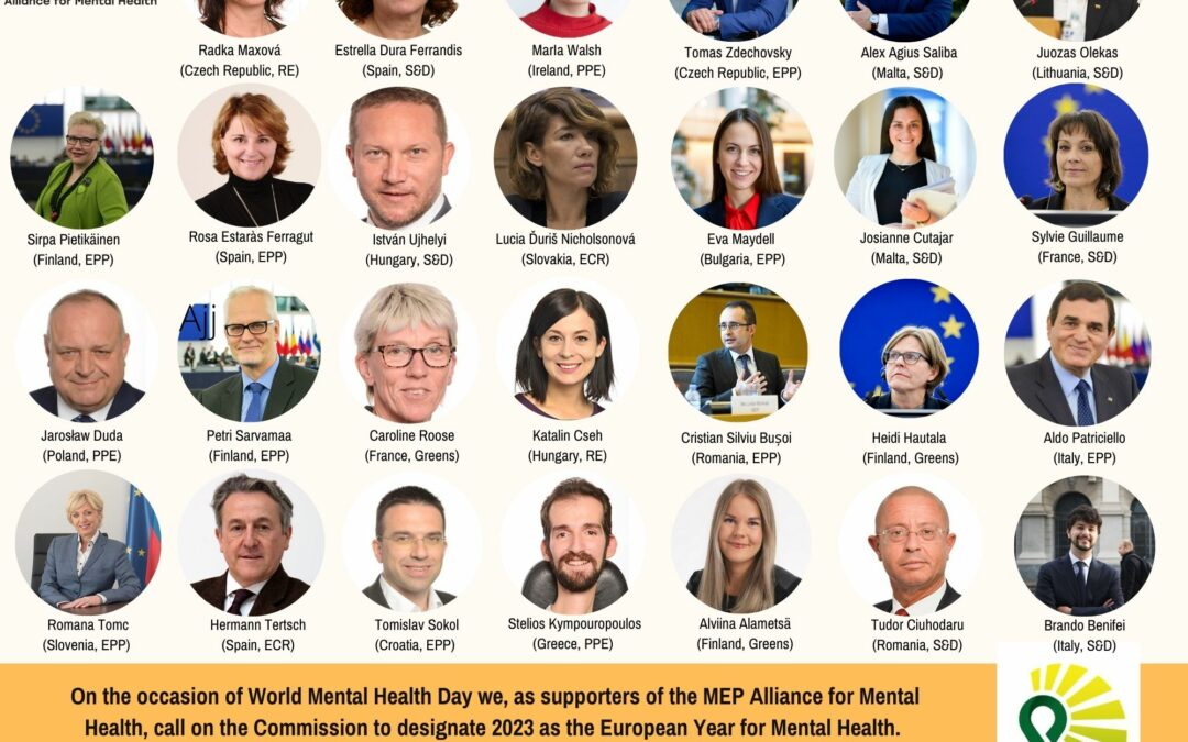 World Mental Health Day: MEP Alliance for Mental Health Supporters call for a European Year for Mental Health